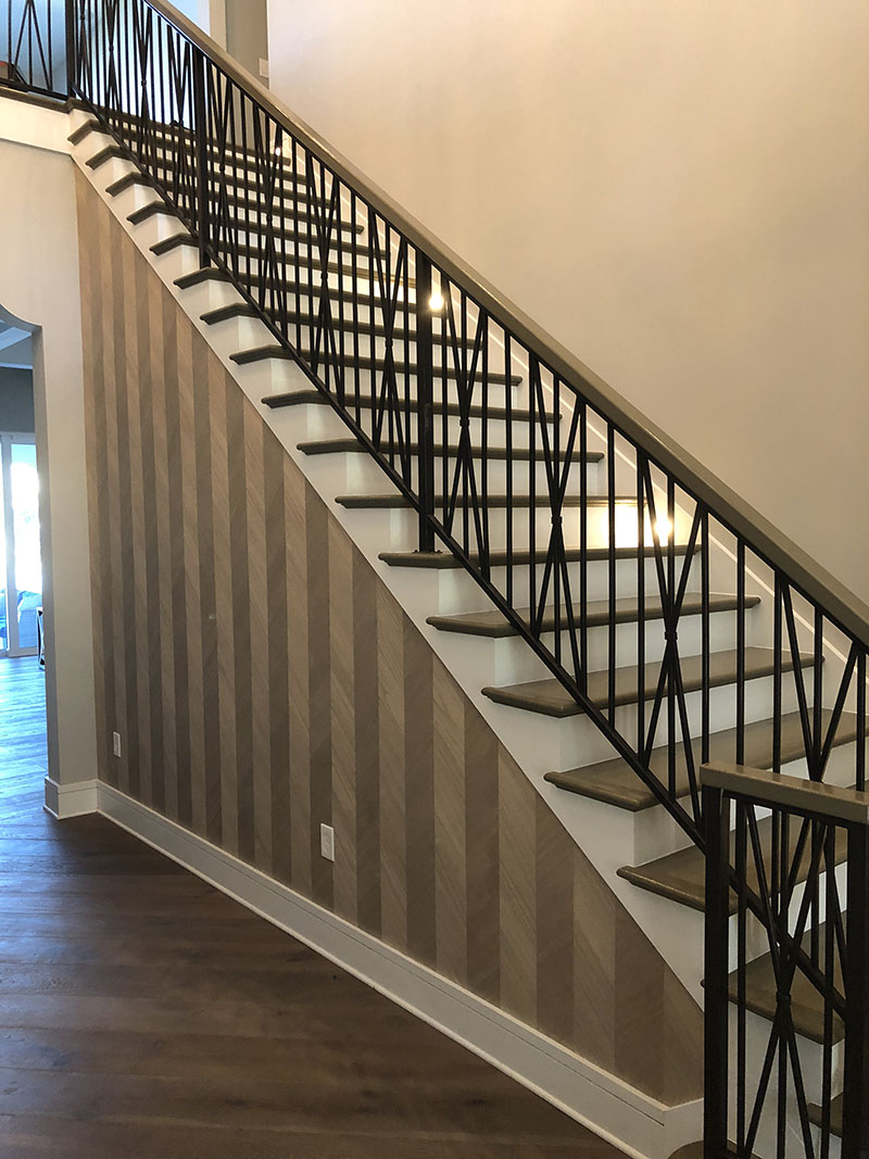 The Wallpaper Guy. Central Florida's wallpaper specialist. Learn More. wood veneer on stairwell